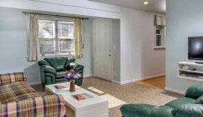 Two Bedroom suite with living room and kitchen – Sleeps 6