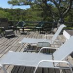 Chairs on the deck of the Ebbside cottage