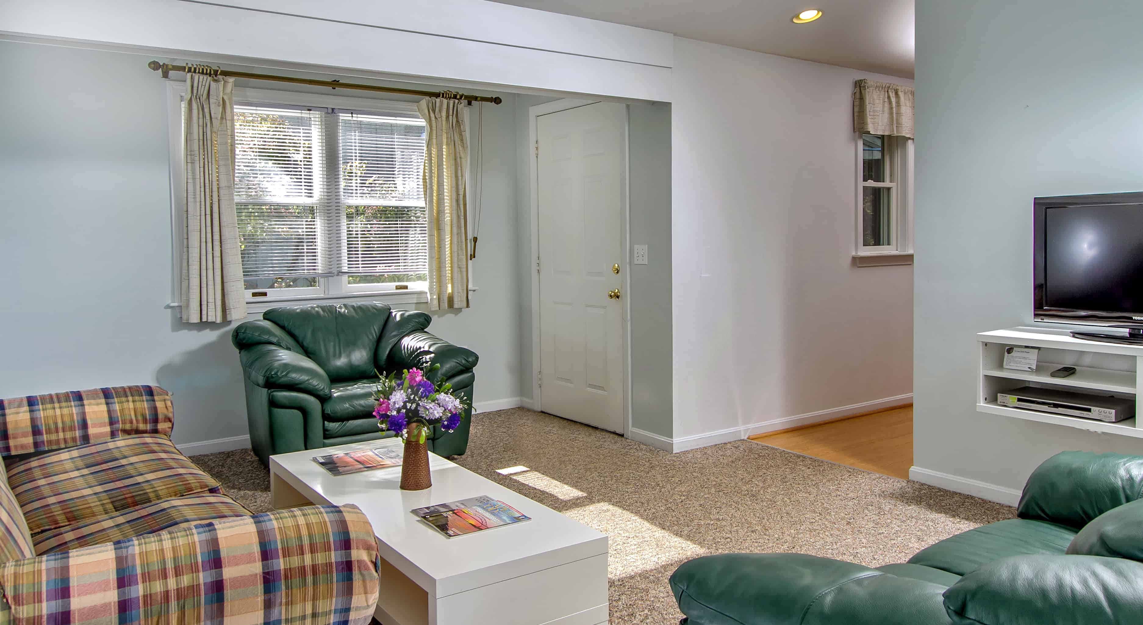 two bedroom suite with living room and kitchen  sleeps 6